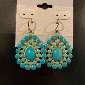 Stella and Dot Charlize Turquoise Teardrop earring
